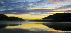 Loch Ness - Scotland (PRotography YORK) Tags: trees sunset sky panorama cloud reflection water fog sunrise landscape scotland still colorful dramatic hills colourful loch ness protography protographyeu