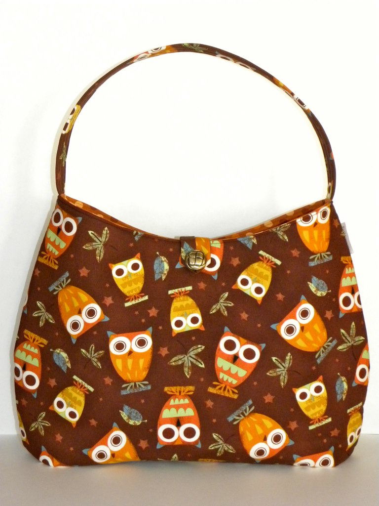 Hobo/Tote Bag - On a Whim Owls