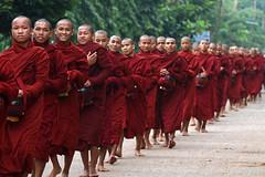 Monks in Myanmar (Bertrand Linet) Tags: asia southeastasia burma culture monk myanmar cultural birmanie birmania bertrandlinet
