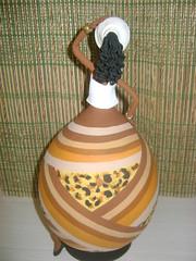 Negras e Africanas em Cabaça e Biscuit (Dani Oliveira- Arte em Cabaça e Biscuit) Tags: artesanato negras africanas bicuit arteemcabaça