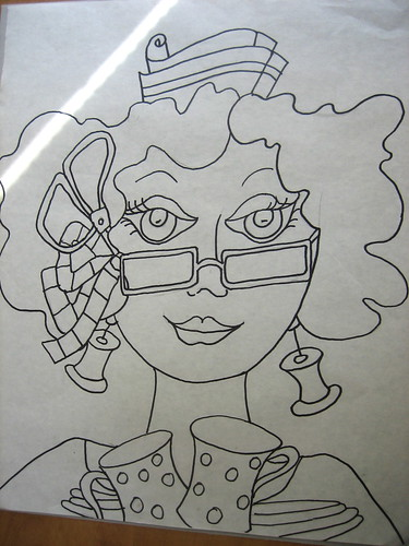 The drawing  #3 in Ladies Series