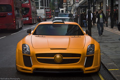 FAB Style. (Raul Salinas) Tags: street summer fab orange london cars car canon photography eos mercedes benz design amazing july salinas arab raul 17 expensive tuning 85 exclusive supercar impressive sls arabs sloane 2011 eor 40d autogespot