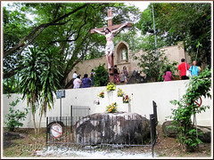 15th Station of the Cross & St Anne's grotto, at the hilltop behind St Anne's Shrine, Bukit Mertajam