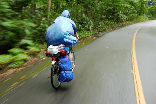 Speeding down to Lake Shikotsu, Hokkaido, Japan