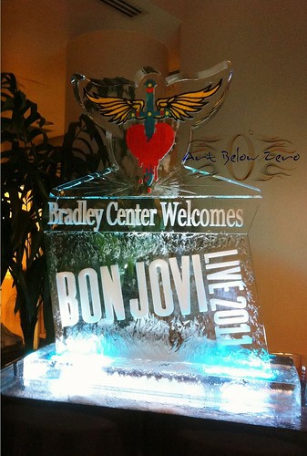 Bon Jovi @ Bradley Center Ice Sculpture