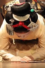 Maiko's hairstyle (Teruhide Tomori) Tags: japan dance kyoto stage traditional maiko   gion odori miyagawacho     earthasia toshiteru