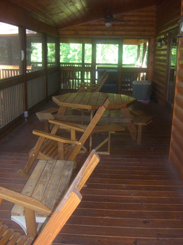 Cabin - Back porch1