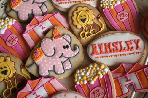 Modern Girly Circus Cookies.