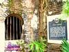 The tunnel and the marker of Plaza Cuartel (Joanna Jane Liwag) Tags: puertoprincesa palawan butterflygarden crocodilefarm bakershill plazacuartel mitrasranch palawanwildliferescueandconservationcenter palawancitytour