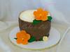 Luau Birthday Cake (Cake is Life ~ Emily) Tags: birthday orange brown cake coconut luau tropical fondant buttercream gumpaste