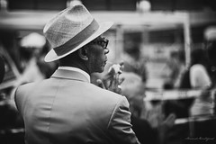 King of Harlem (yopse - Arnaud Montagard) Tags: street nyc newyorkcity portrait bw usa ny black canon 50mm mess king mood bokeh expression harlem f14 candid atmosphere oldschool nb feeling messe godfather parrain candidphotography kingofny 50d yopse arnaudmontagard
