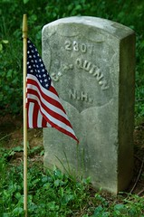 Headstone of Civil War Veteran Charles A. Quinn, Antietam National Cemetery, Sharpsburg, MD. (goldenanchor) Tags: civilwarveteran sharpsburgmd antietamnationalcemetery 5thnewhampshirevolunteerinfantry charlesaquinn