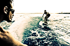 Wakesurf - Ka Huete (Tom's foto) Tags: sea bw water beauty canon vintage french jump surf wake fuck cannes gorgeous board picture wave pic ombre handheld mandelieu curve milf fcb canonefs1022mmf3545usm desillusion madeinlafrance djliguana