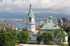函館ハリストス正教会と船