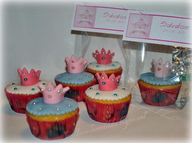 Cupcake Princess con coroncina