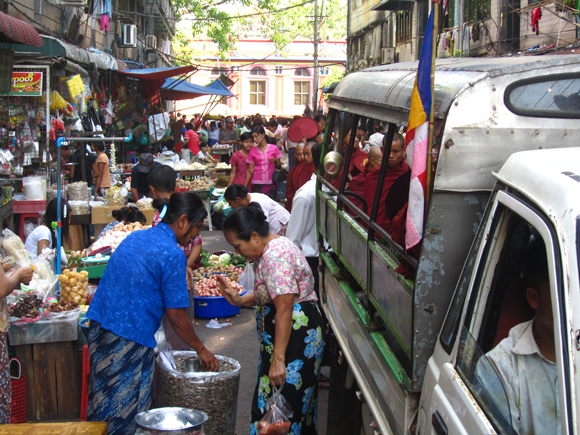 Morning Market in Central Yangon
