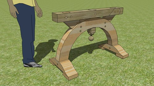 arched T-frame sawhorse