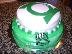 Green Lantern Birthday Cake (Bibi's Culinary Journey) Tags: cake birthdaycake superhero greenlantern fondant themecake superherocake