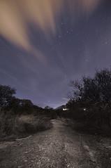 El camino... (vlopezfotografia.es) Tags: color blanco out star nikon long exposure y camino cut negro ps movimiento tokina nubes estrellas nocturna af fotografia 1224mm f4 larga exposición d90