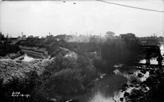 Looking southeast from Ann St over Stony Creek (8-10-1917) (Norman Rexford) Tags: historic bo westernave stonycreek calumet stbenedict dixiehighway mwrd blueisland rockislandrailroad calsag littlecalumet saganashkee fayspoint