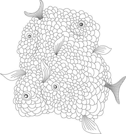poissons emmêlés