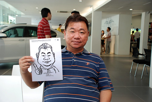 Caricature live sketching for Performance Premium Selection first year anniversary - day 2 - 6