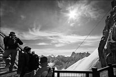 aiguille du midi (heavenuphere) Tags: bw snow france mountains alps alpes landscape climbing alpine chamonix 1022mm montblanc massif aiguilledumidi hautesavoie rhônealpes chamonixmontblanc téléphériquedelaiguilledumidi