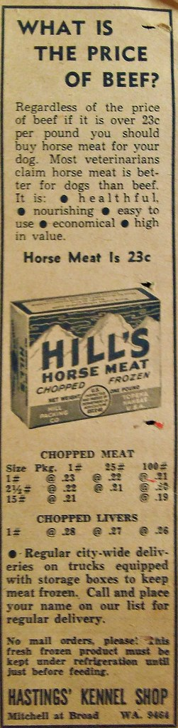 Hill's Horse Meat Ad