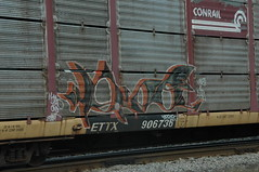 Im Dead (A & P Bench) Tags: red canada train bench graffiti steel grain canadian national graff hopper railfan freight rolling burners rollingstock fr8 benching
