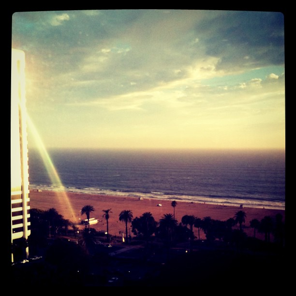 Ocean view from The Penthouse restaurant at The Huntley in Santa Monica