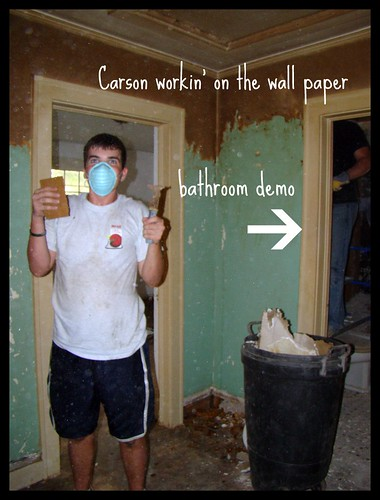 Carson scraping wallpaper
