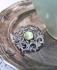 Vintage Brooch with Green Stone (Of Spring and Summer) Tags: stilllife inspiration green art home nature vintage silver photography design antique interior brooch creative vase tray romantic antiques cottagestyle vases tarnished shabbychic silverplated ofspringandsummer