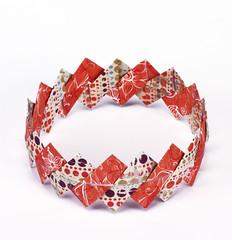 Origami création - Didier Boursin - Bracelet zigzag
