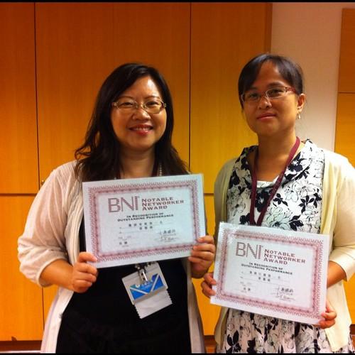 BNI長勝分會:八月來賓邀請第一名:占星天使Lily,引薦第一名: 先天經絡曾蕙純