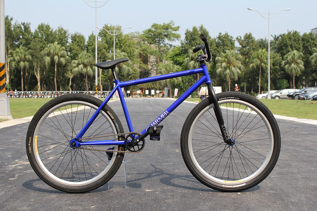 "New Charmer26"" Matt Navy Blue Bike Check"