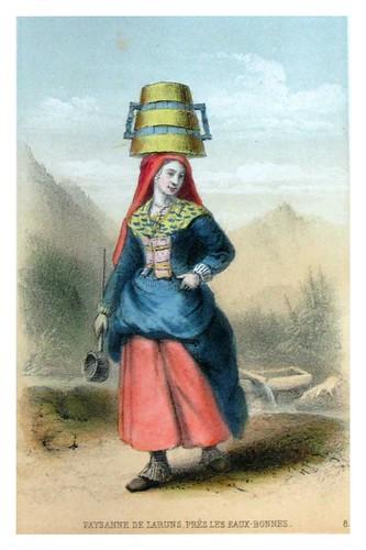003-Campesina de Laruns-Costumes pyrénéens-1860