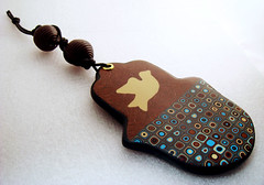 Klimt/Retro Cane and Inlaid Ivory Dove Wall decoration (Creative Art Center) Tags: pink original autumn flower love floral cane easter tin photography penguin israel necklace beads leaf team wire keychain arte box designer handmade mosaic unique dove treasury creative craft jewelry ring fimo fantasy clay gift lucky bracelet ladybug handcrafted stamping swirl ribbon accessories bangle earrings resin etsy custom decor brass charms hanger pendant amulet talisman starrynight wallhanging polymer millefiori hamsa artesano canework pcagoe homedcor arcilapolimetrica klimtretrocanepolymerclay