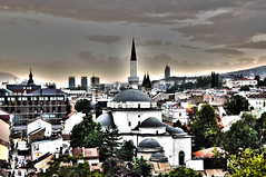 Things to see HDR (Saray_girl) Tags: old sunset architecture town view sarajevo mosque cami grad stari begova dzamija