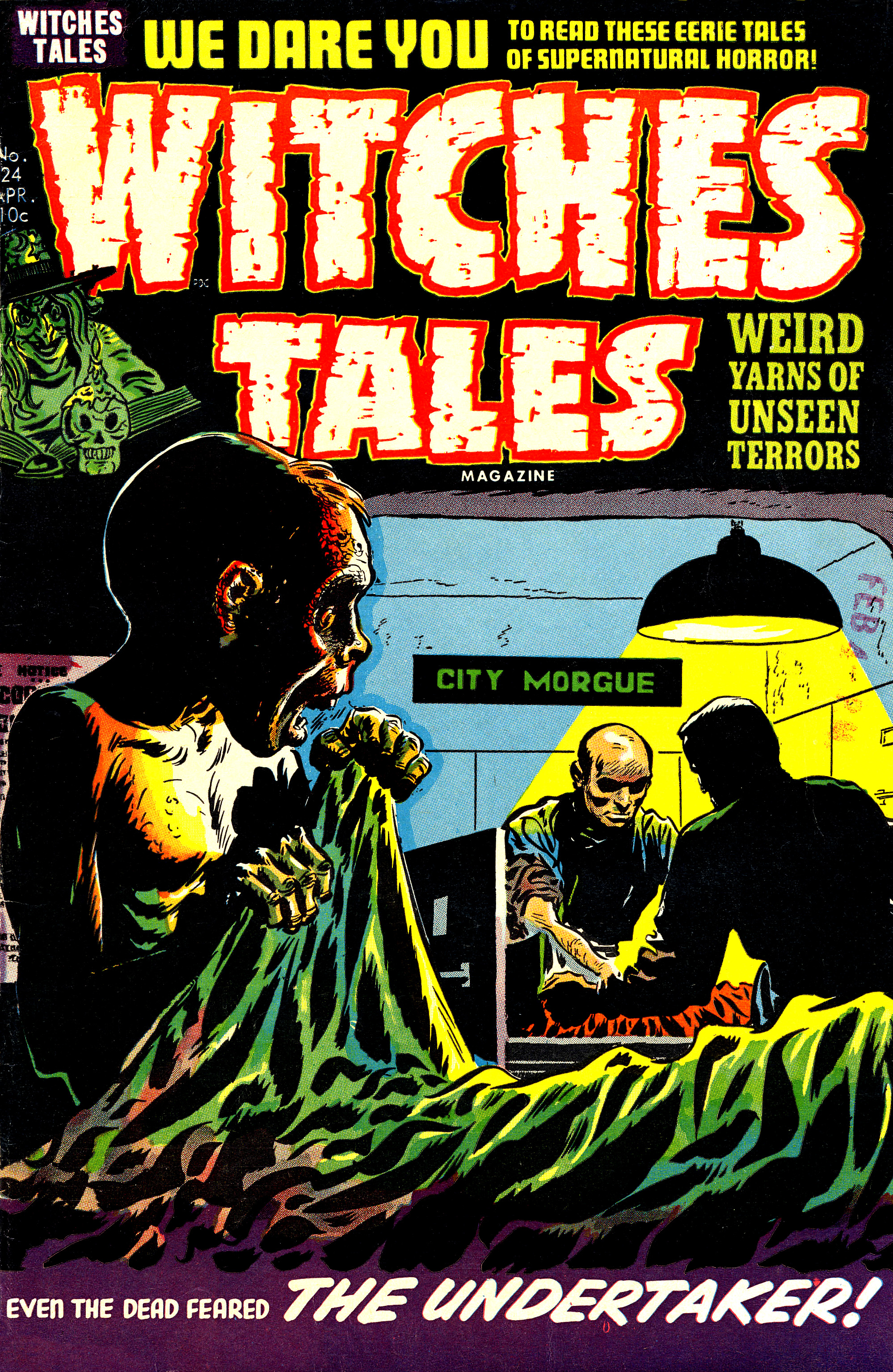 Witches Tales #24, Lee Elias Cove (Harvey, 1954)
