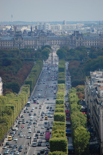 View of the Louvre from the Arc de Triomphe