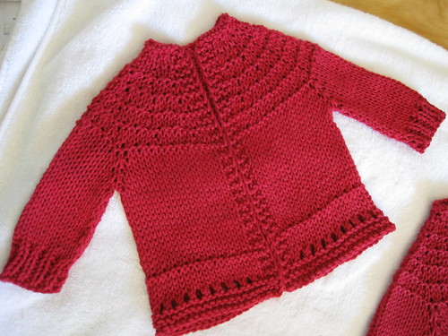 5-hour baby sweater - blocking