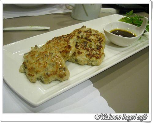 110904-野菇嫩雞餅佐香醋醬