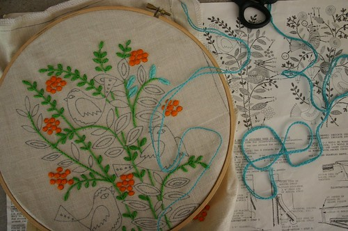 New vintage embroidery project
