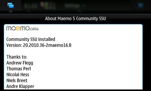 About Maemo5 CSSU Ver.20.2010.36-2maemo16.i