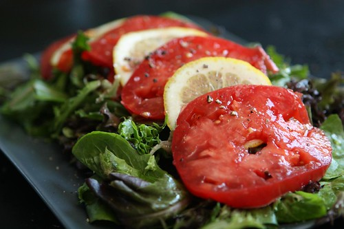 Heirloom Tomato and Lemon Salad