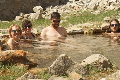 A dip in the hot springs