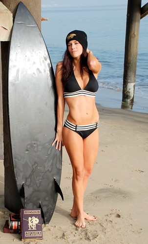Hot Beautiful Girl in Black Bikini