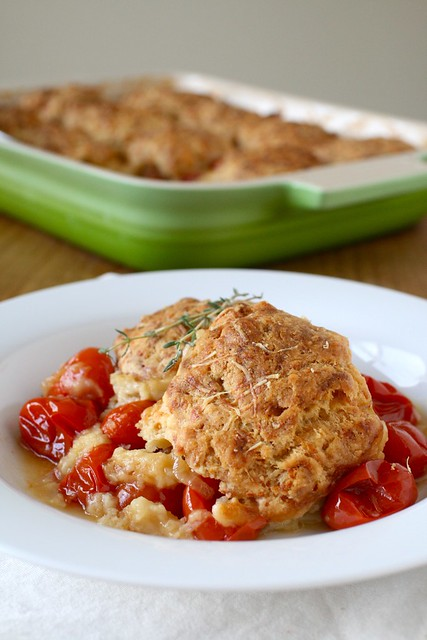 Tomato Cobbler with Gruyere Biscuits - Annie's EatsAnnie's Eats