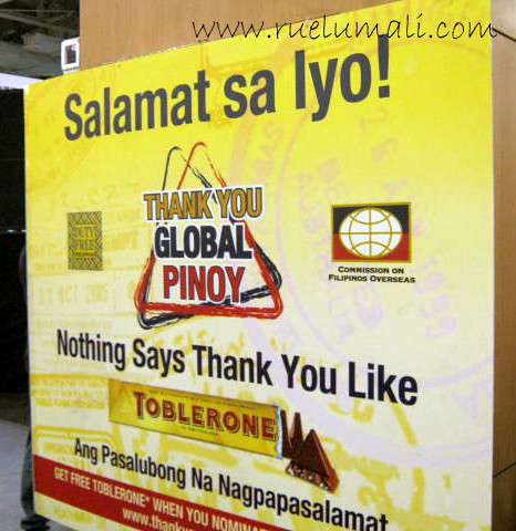 """Toblerone Global Pinoy"" ""Ruel Umali"" www.ruelumali.com"