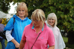 Lorraine and friends (whitbywoof) Tags: park ladies friends event rainmac